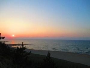 夕日も美しい琴引浜