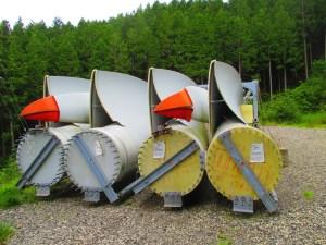 上矢作風力発電所の風車に使われているブレード