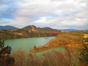 恵那峡 さざなみ公園の冬
