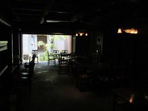 黒壁 叶匠寿庵のカフェの店内