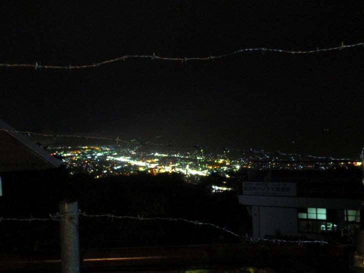 長野 杖突峠からの夜景