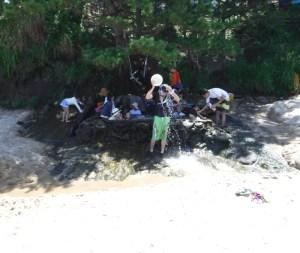 琴引浜の露天風呂