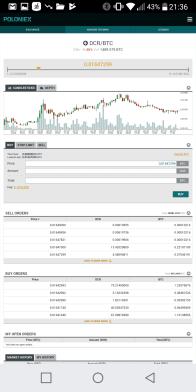 Per ogni criptovaluta è possibile inserire un ordine di acquisto tramite questa schermata che mostra saldo attuale del nostro conto, prezzo della criptovaluta di interesse e quantità di acquisto