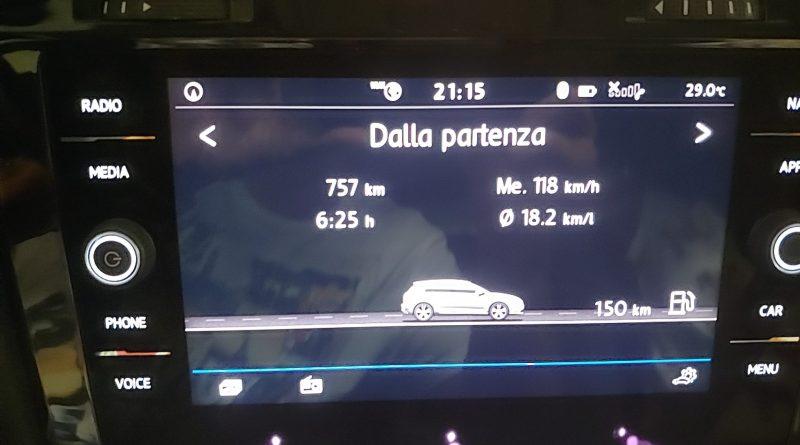 Napoli - Milano a pieno carico con A/C e velocità di crociera 135Km/h