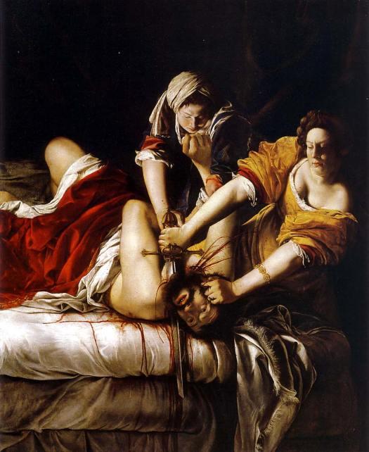 "Artemisia Gentileschi, ""Judith & Holofernes"""