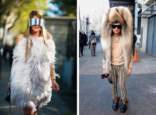 A sinistra Anna Dello Russo, a destra Bryanboy, un fashion blogger.