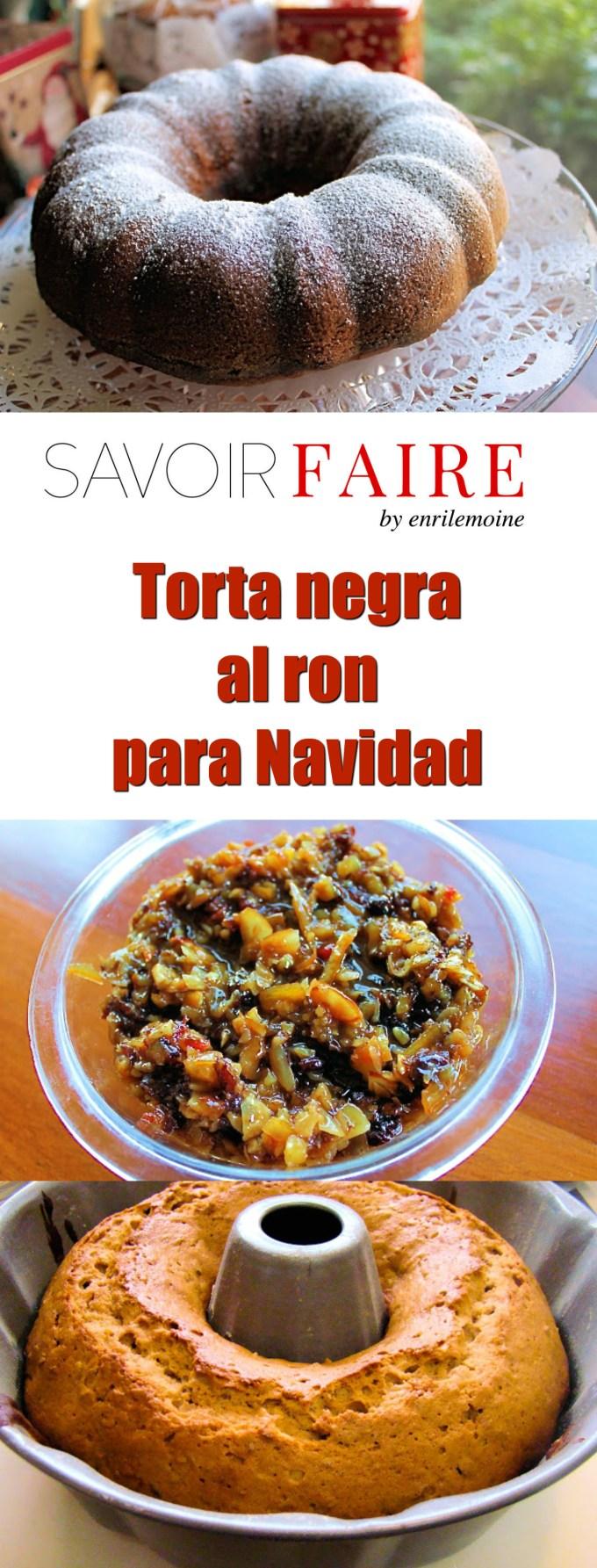 Torta negra al ron para Navidad - SAVOIR FAIRE by enrilemoine