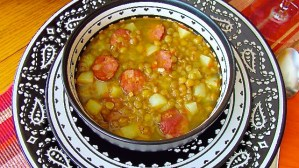 Sopa de lentejas con chorizo - SAVOIR FAIRE by enrilemoine