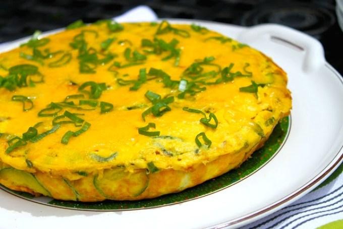 Cheesy Zucchini and Chorizo Frittata - SAVOIR FAIRE by enrilemoine