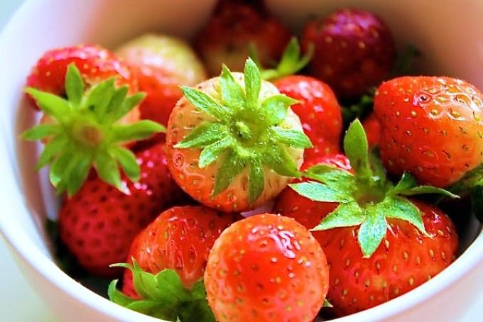 fresas, producto de mi huerta