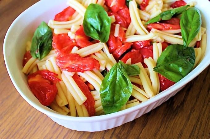 Pasta Salad with raww filetto di pomodoro