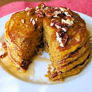 Pumpkin Pancakes with Dates & Pecans