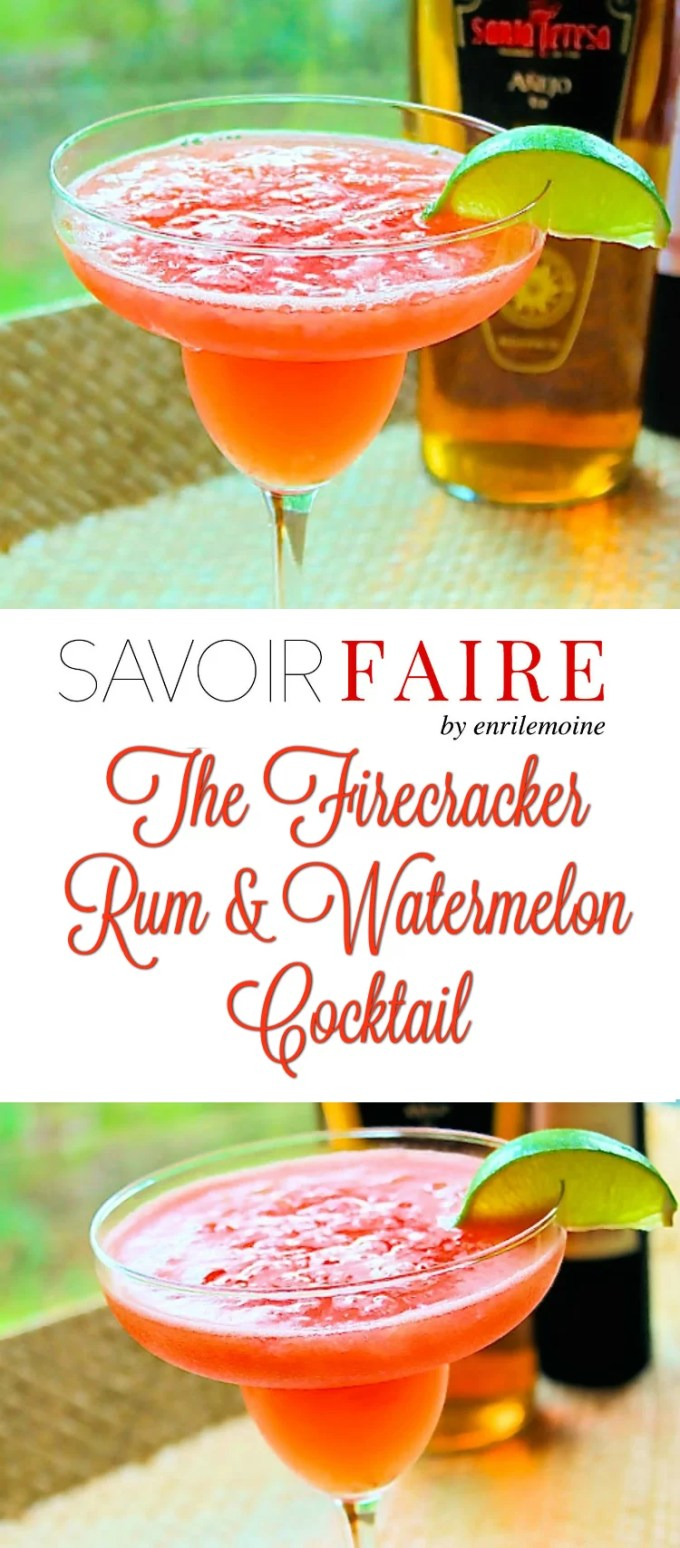 With such a suggestive name, this Firecracker, a rum and watermelon cocktail, is the perfect summer concoction, ideal to celebrate the 4th of July.