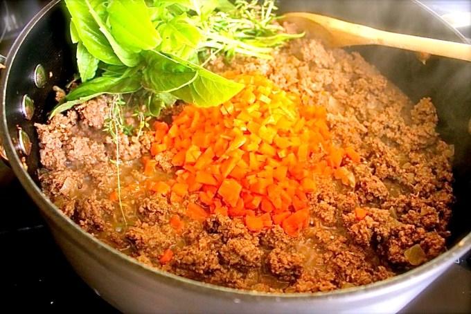 Bolognese sauce with shiitaki mushrooms - SAVOIR FAIRE by enrilemoine
