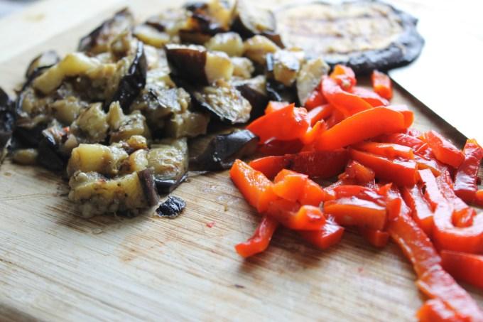 vegetales al grill, vegetales al grill en juliana, ensalada de berros con vegetales al grill