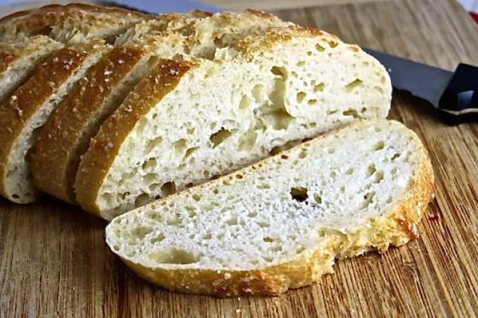 bread to make Chèvre, Strawberry and Basil Bruschetta