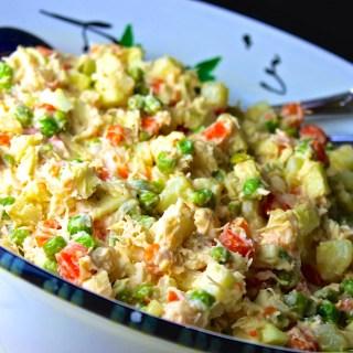 Venezuelan Chicken Salad: Ensalada de Gallina + VIDEO