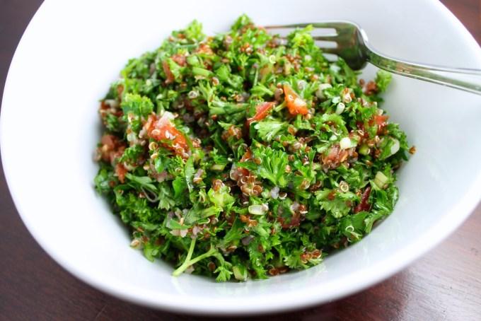 Red quinoa tabbouleh by enrilemoine