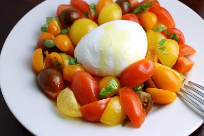 Caprese salad, multicolor Caprese Salad,