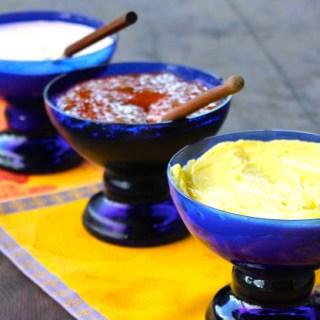 Alioli, crema de chipotle y salsa de guayaba y jalapeño (VIDEO)