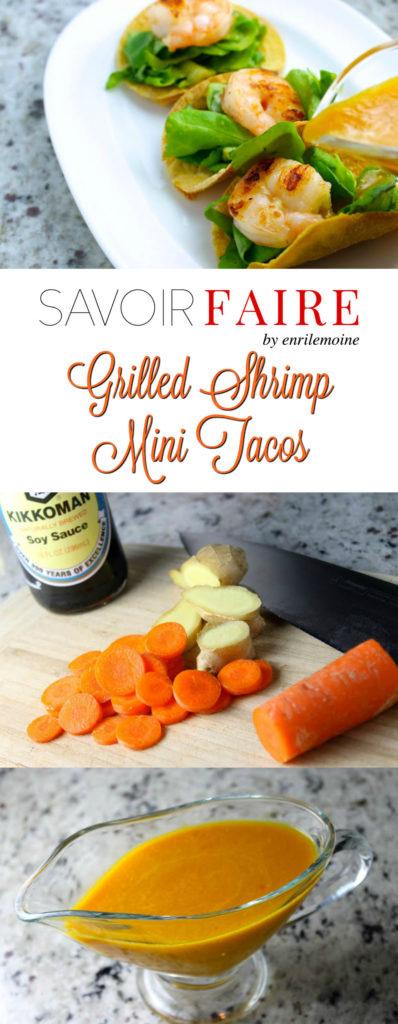 Grilled Shrimp Mini Tacos - SAVOIR FAIRE by enrilemoine