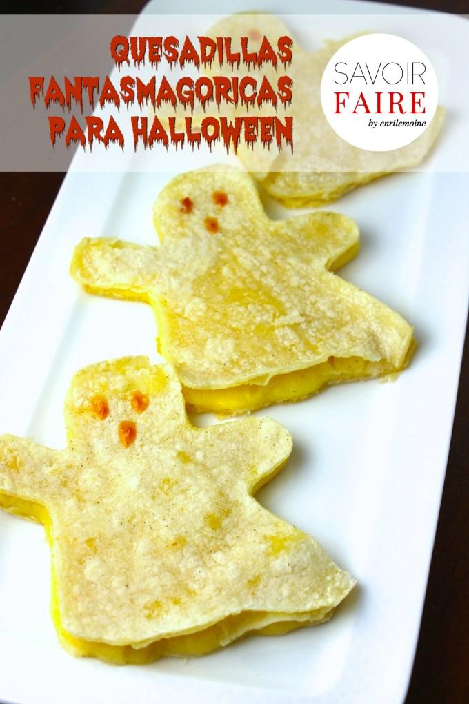 Quesadillas fantasmagóricas para Halloween