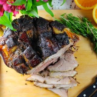 Paleta de cerdo a la naranja