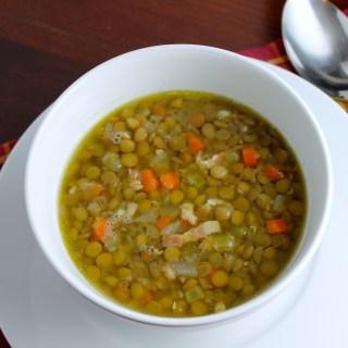 Sopa de lentejas a la francesa