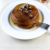 Sweet Potatoes Pancakes with Candied Pecans - SAVOIR FAIRE by enrilemoine