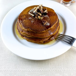 Sweet Potatoes Pancakes with Candied Pecans - SAVOIR FAIRE by enrilemoine