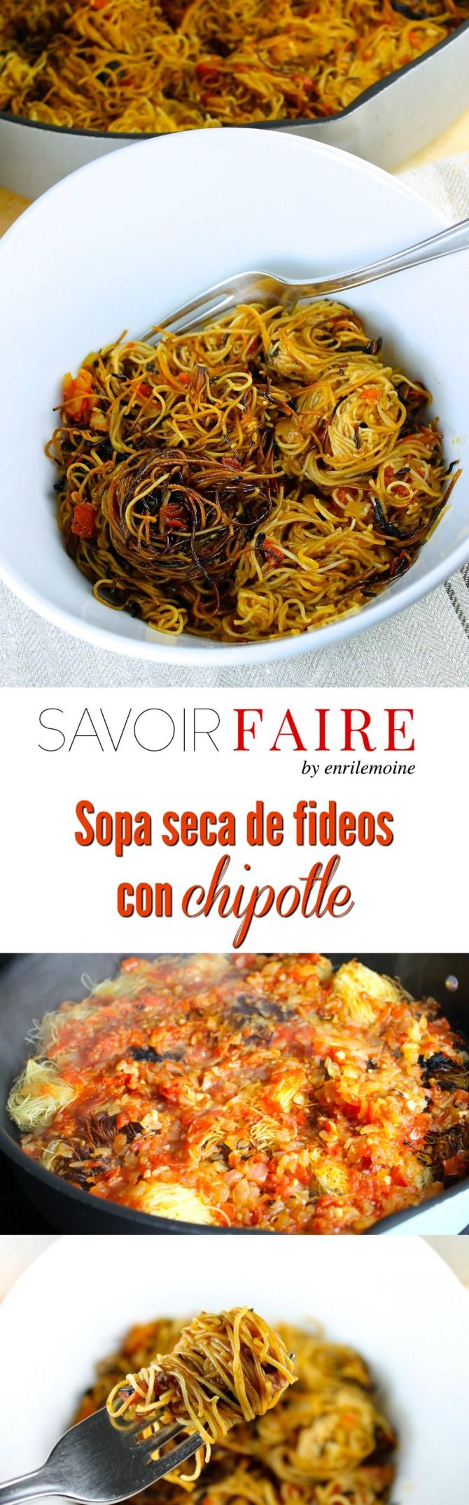 Sopa seca de fideos con chipotle - SAVOIR FAIRE by enrilemoine