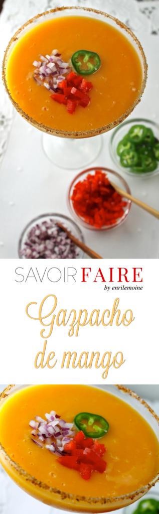 Gazpacho de mango - SAVOIR FAIRE by enrilemoine