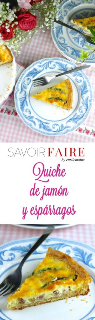 Quiche de jamón y espárragos - SAVOIR FAIRE by enrilemoine