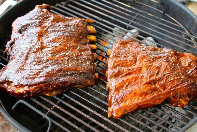 BBQ pork spare ribs with teriyaki glaze, pork ribs, spare ribs