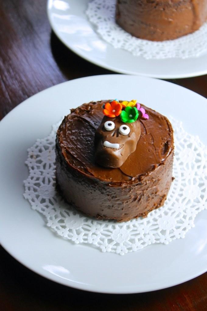 Mini pasteles de chocolate, pastel de chocolate para el día de muerto