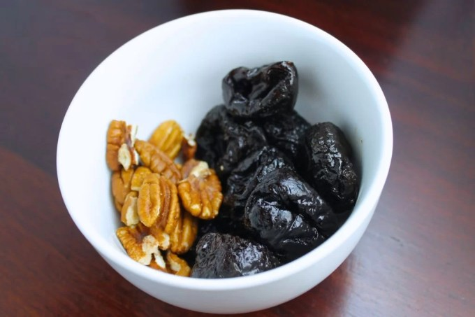 pecans and prunes to make Fruit and Spice Christmas Punch