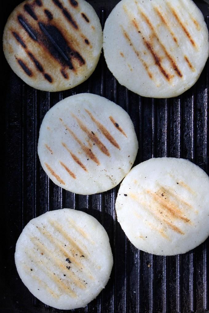 Arepas to make arepas with Chorizo Scrambled Eggs