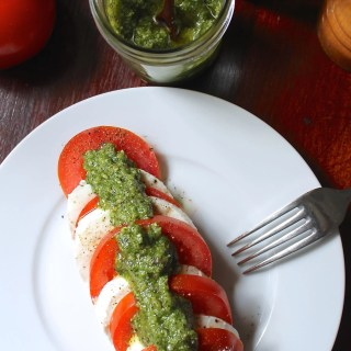 Caprese Salad with Basil Pesto