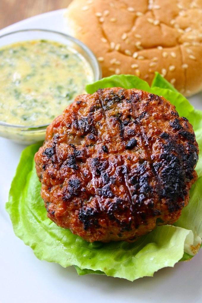 Grilled Pork Loin Burgers