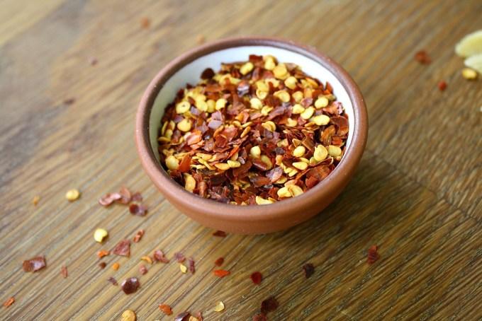 red pepper flakes to make spice arrabiata