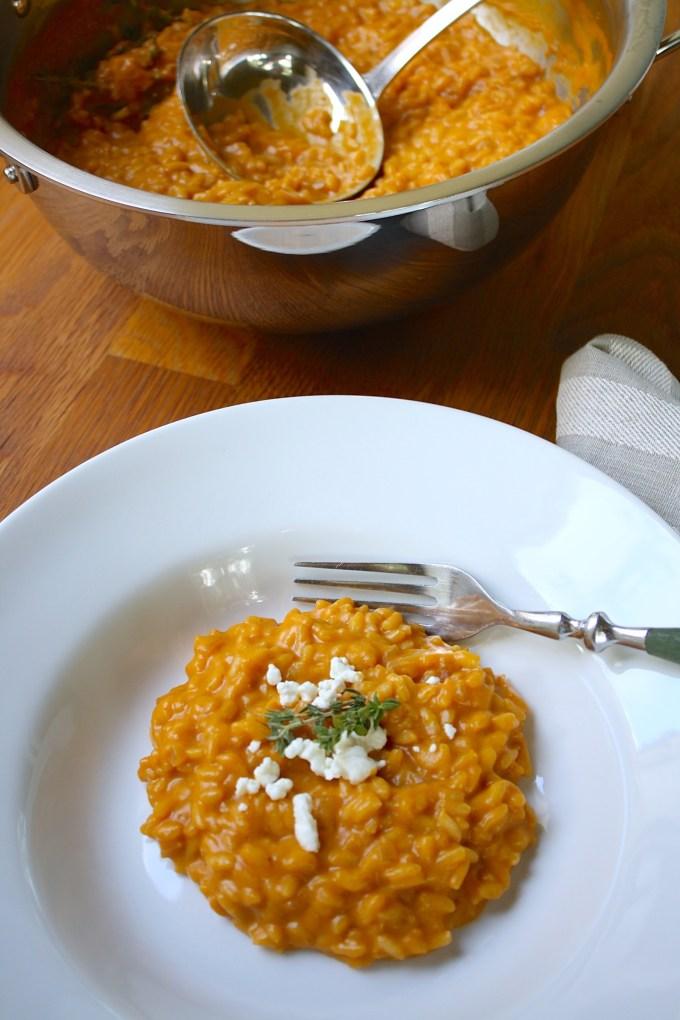 Pumpkin Risotto with Goat Cheese - SAVOIR FAIRE by enrilemoine