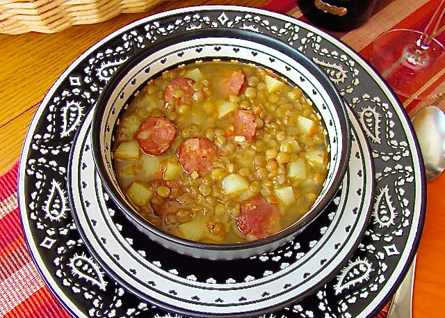Lentil Soup with Spanish Chorizo - by enrilemoine