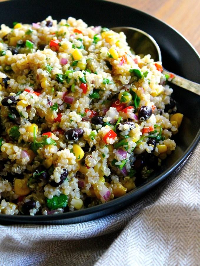 Zesty Latin Crispy Quinoa Salad by enrilemoine