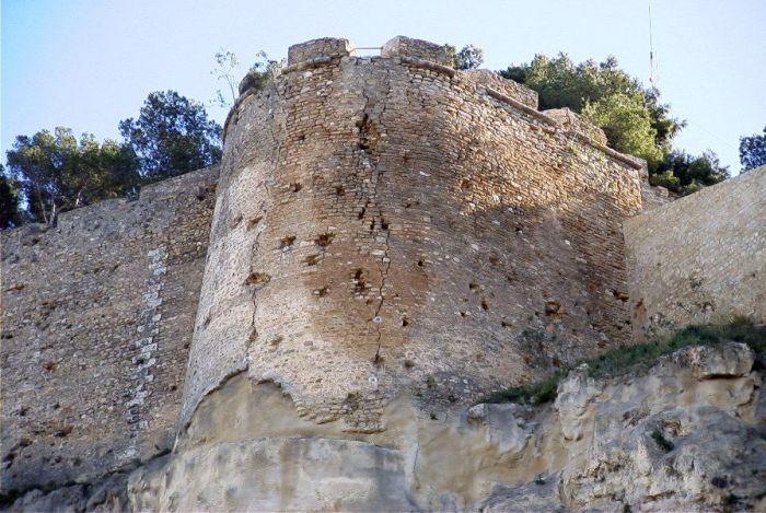 Detalle del Recalce de la Torre Norte del Castillo de Denia