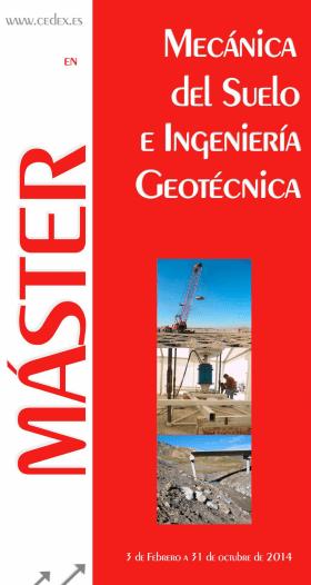 Máster en Mecánica del Suelo e Ingeniería Geotécnica