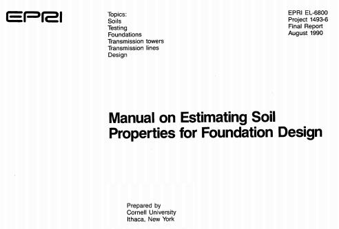 Manual EPRI de correlaciones geotécnicas