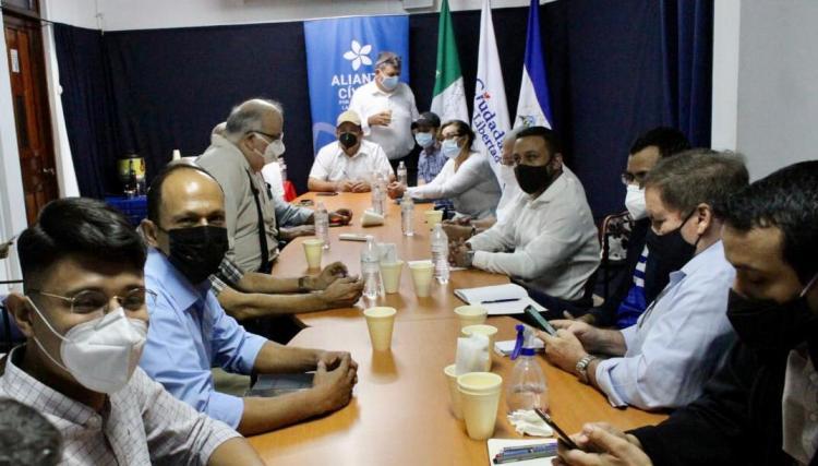 Mesa de negociación entre organizaciones opositoras nicaragüenses