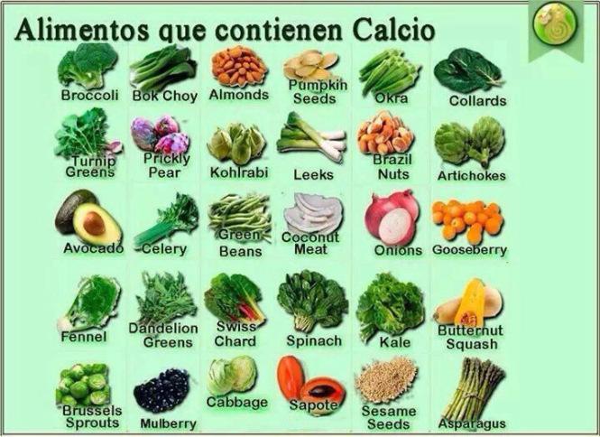 El calcio en los huesos - Alimentos ricos en gluten ...