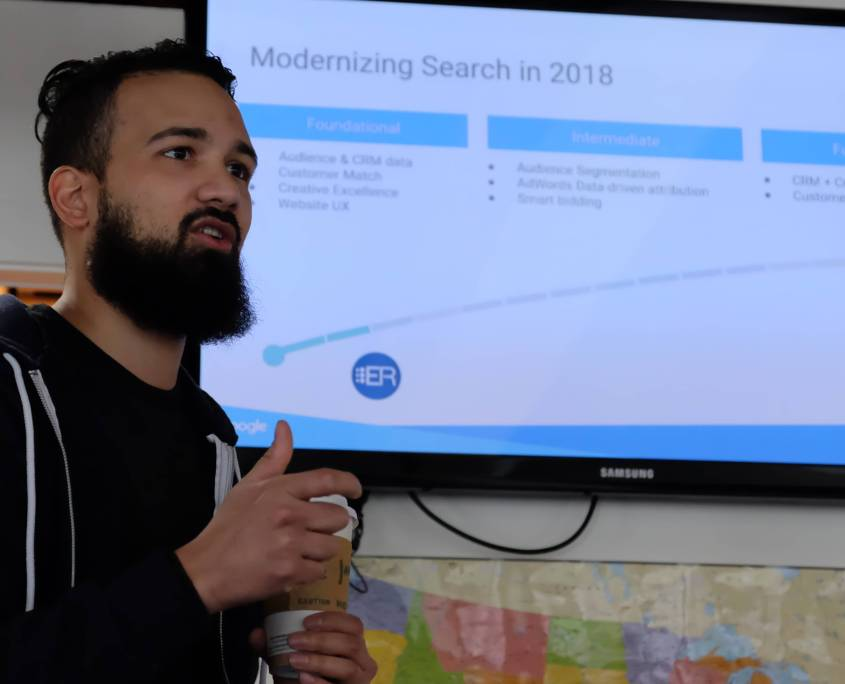 Staff at Enrollment Resources spent a day learning about coming innovations and new best practices in AdWords management with our Google Account Manager.