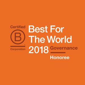 Enrollment Resources received the 2017 B Corp Best For The World Award: Best For Governance